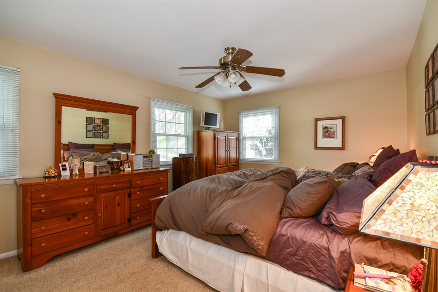 Real Estate Photography - 0S690 Grant, Winfield, IL, 60190 - Master Bedroom
