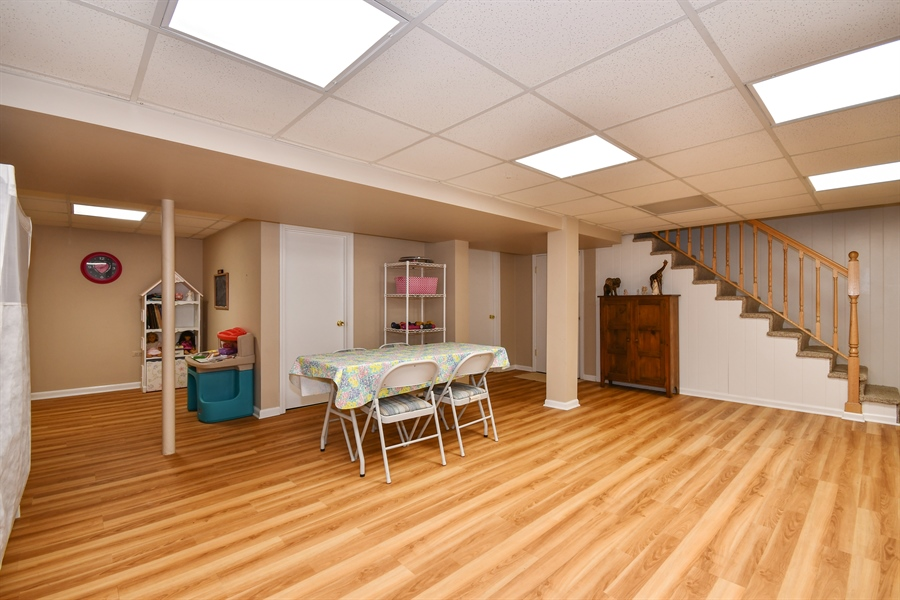 Real Estate Photography - 0S690 Grant, Winfield, IL, 60190 - Basement