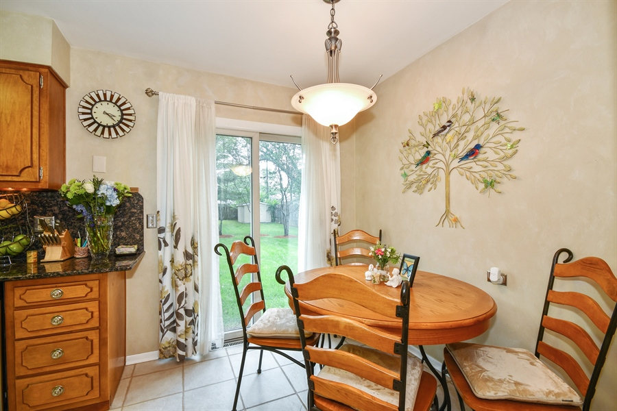 Real Estate Photography - 0S690 Grant, Winfield, IL, 60190 - Breakfast Nook