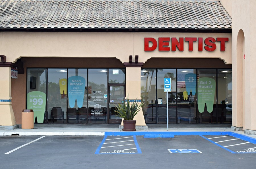Real Estate Photography - 467 College Blvd, Ste 2 ,College Dental Group, Oceanside, CA, 92057 - Front View