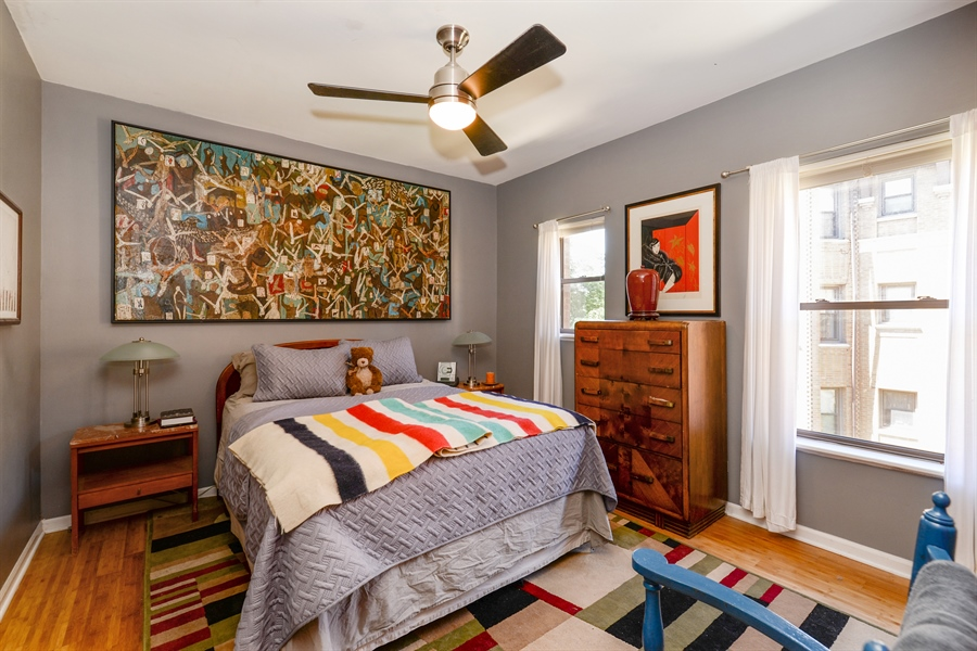 Real Estate Photography - 7715 N Hermitage, #2I, Chicago, IL, 60626 - Bedroom