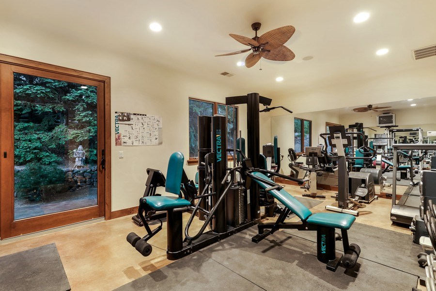 Real Estate Photography - 5183 Chelshire Downs Rd, Granite Bay, CA, 95746 - Fitness Center