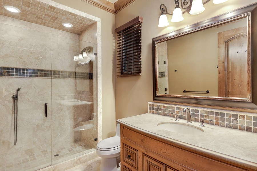 Real Estate Photography - 5183 Chelshire Downs Rd, Granite Bay, CA, 95746 - Guest House Bathroom