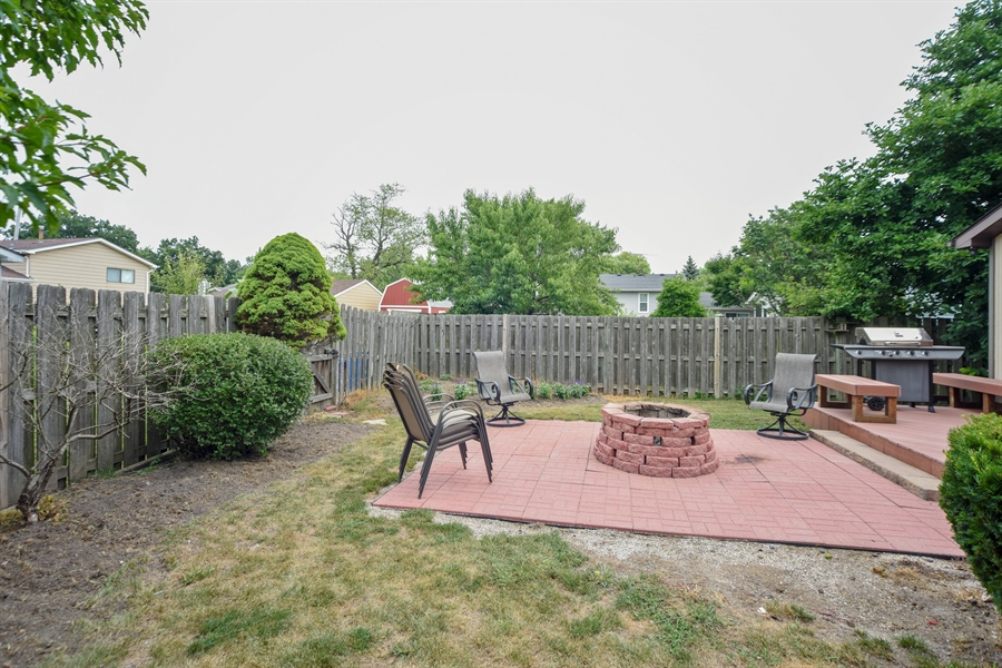 Real Estate Photography - 2946 W Nemesis Ave, Waukegan, IL, 60087 - Beautiful Brick Paver Patio with Fire Pit