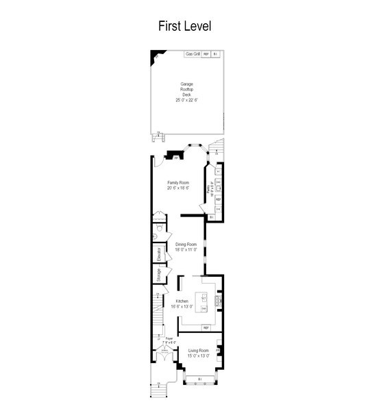 Real Estate Photography - 1433 N State Pkwy, Chicago, IL, 60610 - Floor Plan