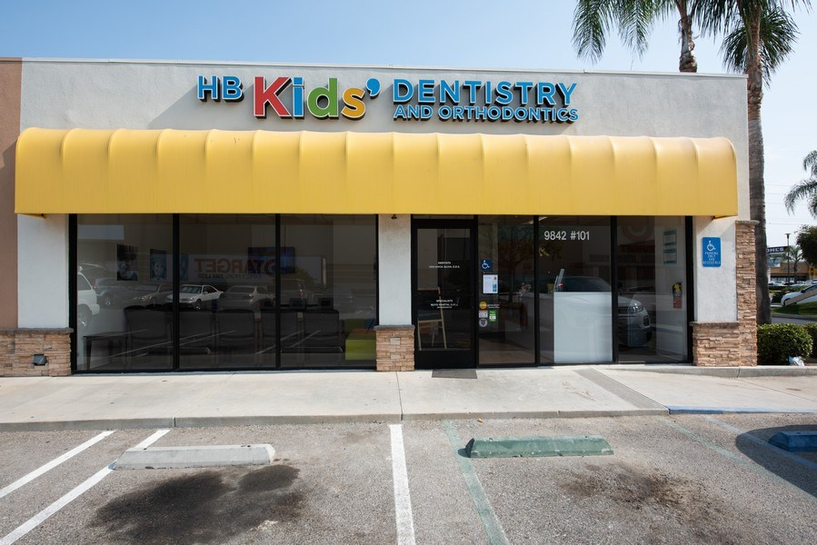 Real Estate Photography - 9842 Adams, Ste 101,HB KidsDentistry and Orthodontics, Huntington Beach, CA, 92646 - Front View