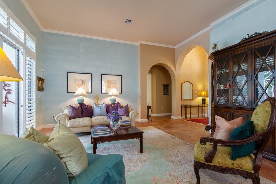 Real Estate Photography - 445 Pine Tree Court, Lake Worth, FL, 33462 - Living Room