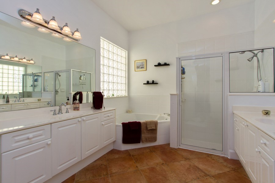 Real Estate Photography - 445 Pine Tree Court, Lake Worth, FL, 33462 - Master Bathroom