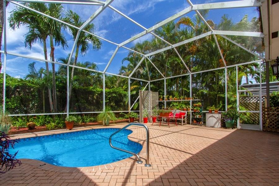 Real Estate Photography - 445 Pine Tree Court, Lake Worth, FL, 33462 - Pool