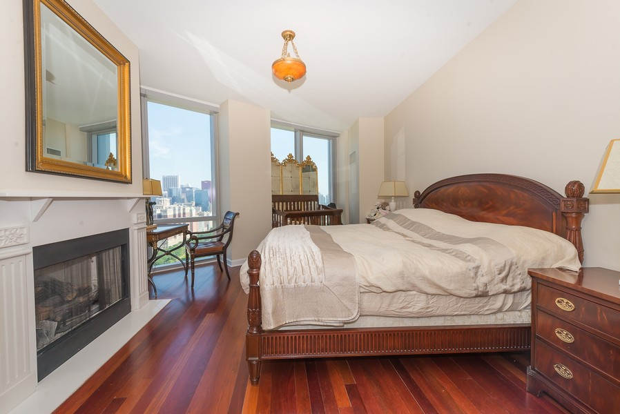 Real Estate Photography - 1211 S Prairie, Unit #3201, Chicago, IL, 60605 - Master Bedroom
