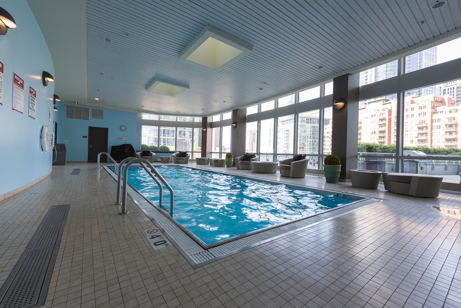 Real Estate Photography - 1211 S Prairie, Unit #3201, Chicago, IL, 60605 - Pool Indoor 1