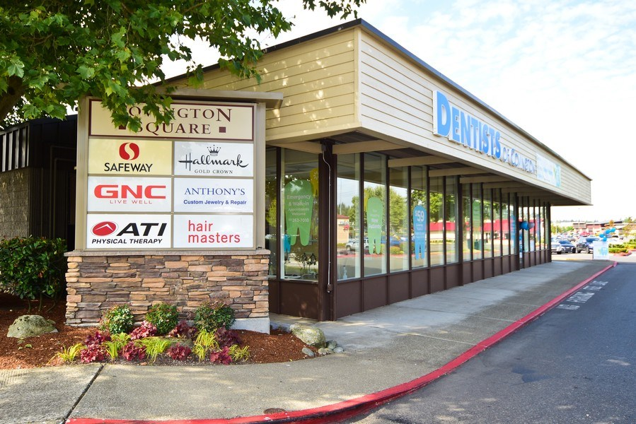 Real Estate Photography - 27237 172nd Ave SE, Ste 105A,Dentists of Covington, Covington, WA, 98042 - Front View