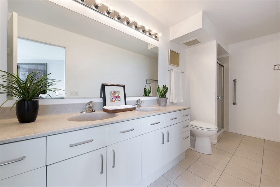 Real Estate Photography - 1720 Maple, Unit 1220, Evanston, IL, 60201 - Master Bathroom