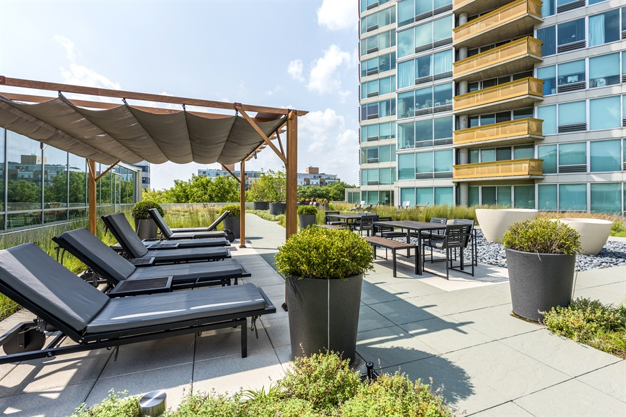 Real Estate Photography - 1720 Maple, Unit 1220, Evanston, IL, 60201 - Roof Deck
