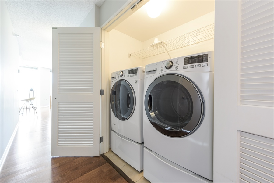 Real Estate Photography - 1720 Maple, Unit 1220, Evanston, IL, 60201 - Laundry Room