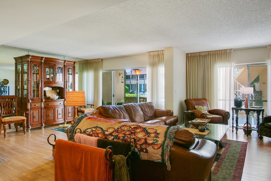 Real Estate Photography - 1100 Surf Road, Unit 106, Riviera Beach, FL, FL, 33404 - Living Room