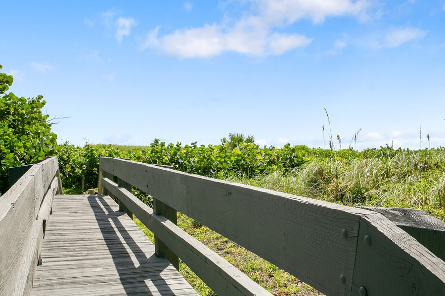 Real Estate Photography - 1100 Surf Road, Unit 106, Riviera Beach, FL, FL, 33404 - Deck