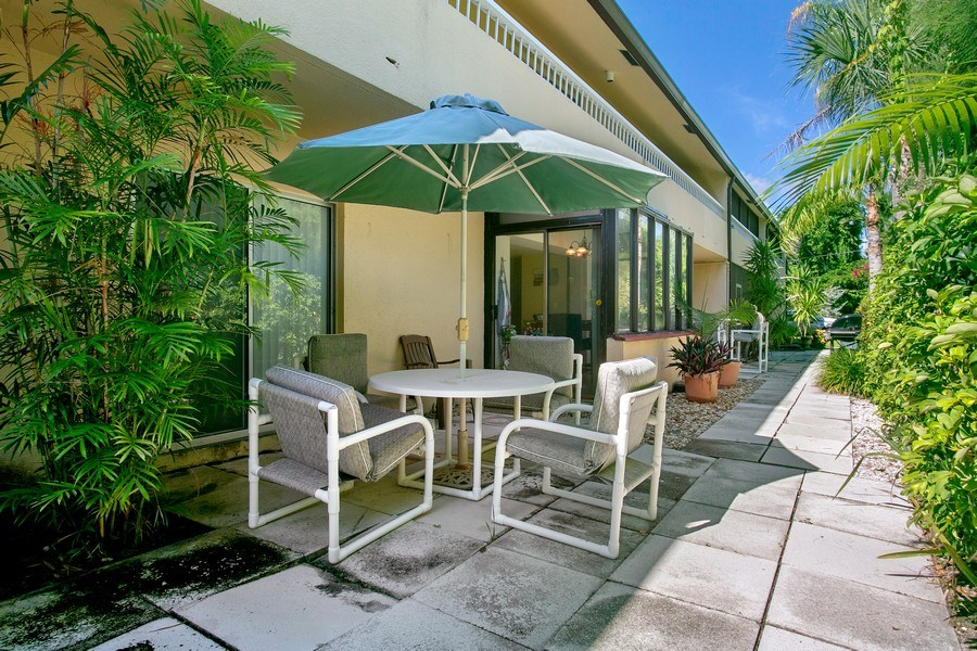 Real Estate Photography - 1100 Surf Road, Unit 106, Riviera Beach, FL, FL, 33404 - Patio