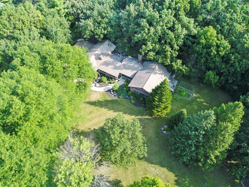 Real Estate Photography - 20943 N Heather Court, Kildeer, IL, 60047 - Aerial View