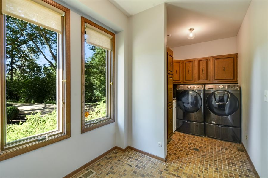 Real Estate Photography - 20943 N Heather Court, Kildeer, IL, 60047 - Laundry Room