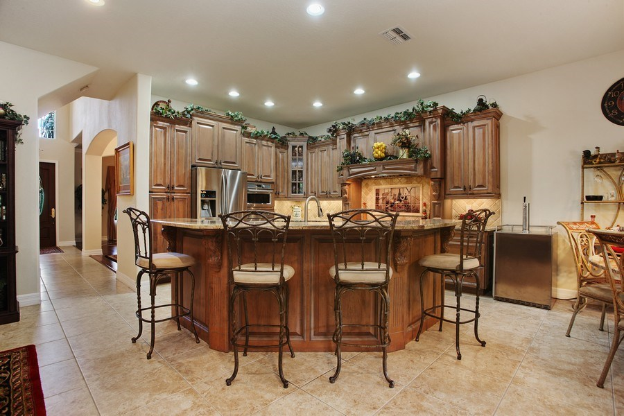 Real Estate Photography - 2614 Brookforest Dr, Wesley Chapel, FL, 33544 - Kitchen