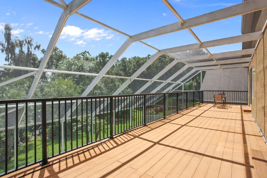 Real Estate Photography - 2614 Brookforest Dr, Wesley Chapel, FL, 33544 - Balcony
