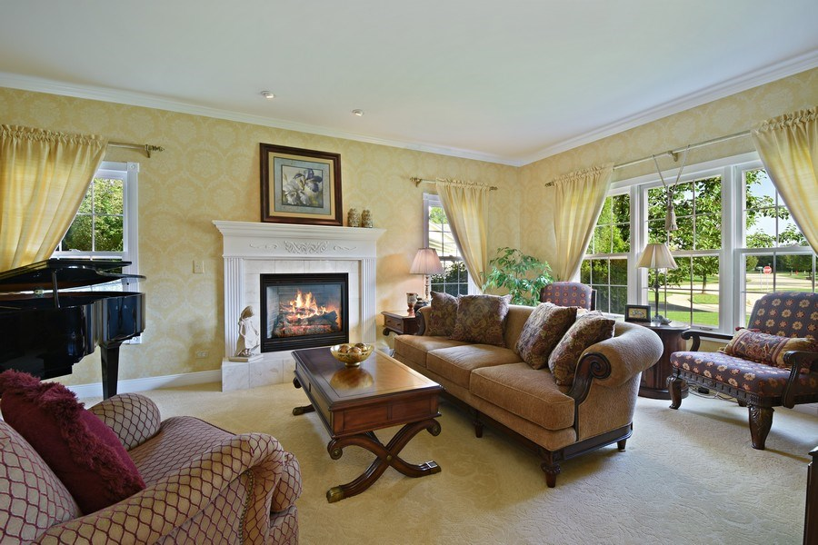 Real Estate Photography - 1074 O'Malley Court, Lake Zurich, IL, 60047 - Living Room