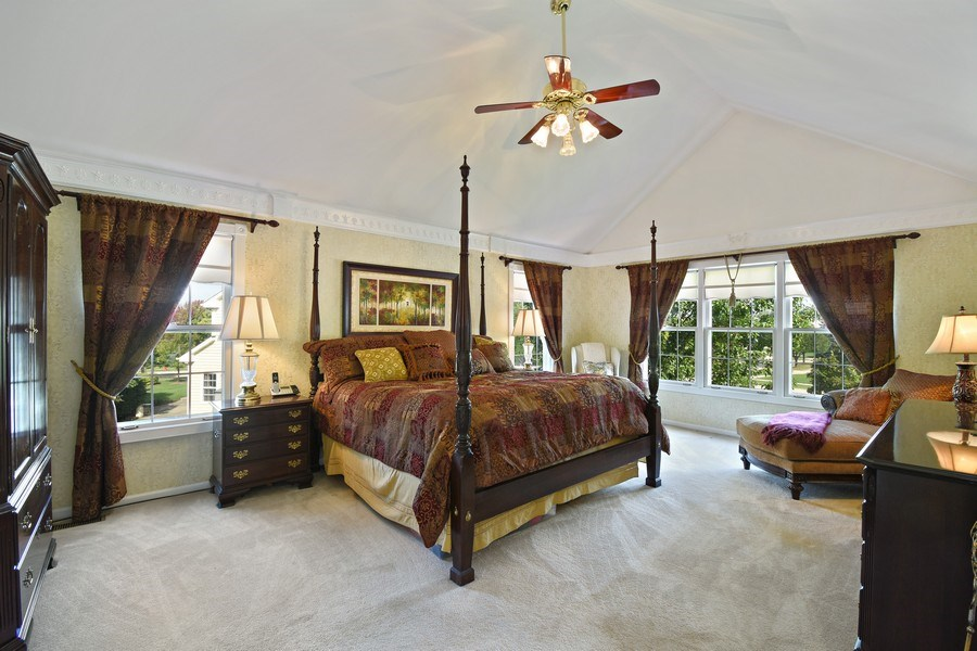 Real Estate Photography - 1074 O'Malley Court, Lake Zurich, IL, 60047 - Master Bedroom