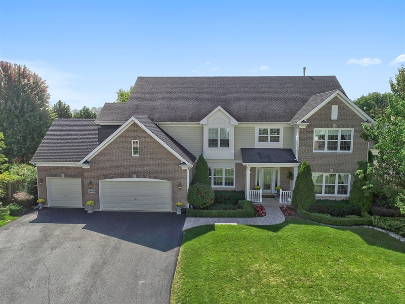 Real Estate Photography - 1074 O'Malley Court, Lake Zurich, IL, 60047 - Aerial View