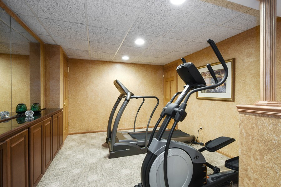 Real Estate Photography - 1074 O'Malley Court, Lake Zurich, IL, 60047 - Fitness Room