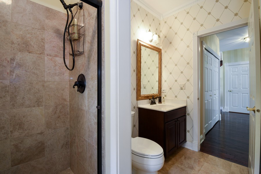Real Estate Photography - 1074 O'Malley Court, Lake Zurich, IL, 60047 - 1st Floor Bathroom