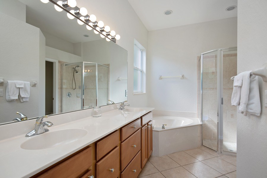 Real Estate Photography - 6136 Highwood Park Ln, Naples, FL, 34110 - Master Bathroom