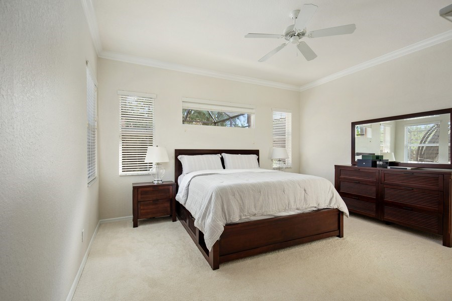Real Estate Photography - 6136 Highwood Park Ln, Naples, FL, 34110 - Master Bedroom
