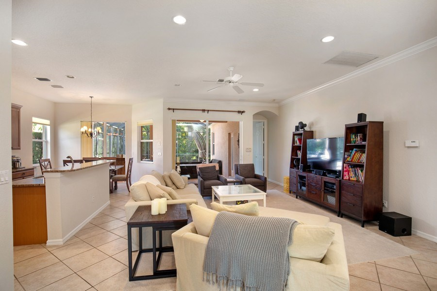 Real Estate Photography - 6136 Highwood Park Ln, Naples, FL, 34110 - Family Room