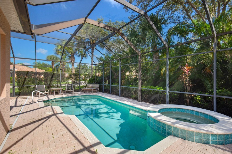 Real Estate Photography - 6136 Highwood Park Ln, Naples, FL, 34110 - Pool/Spa