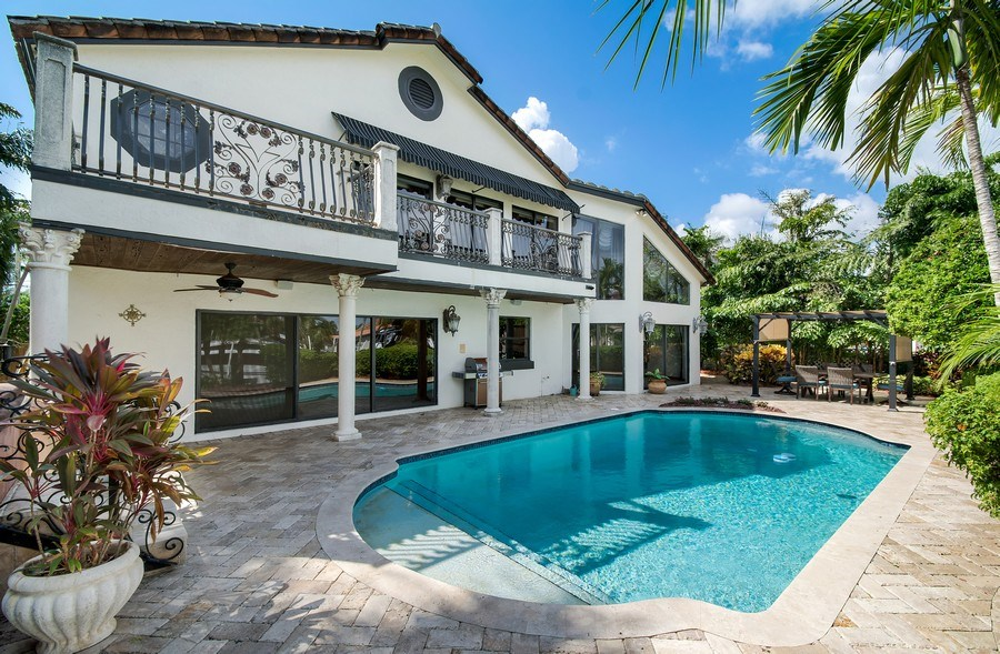 Real Estate Photography - 2641 NE 47th St, Lighthouse Point, FL, 33064 - Rear View