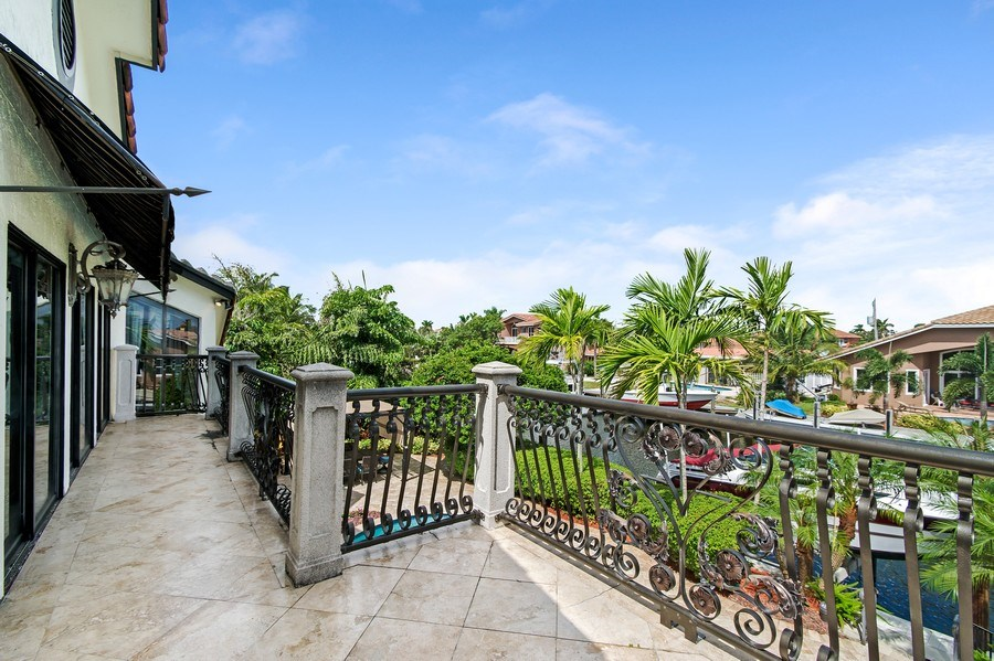 Real Estate Photography - 2641 NE 47th St, Lighthouse Point, FL, 33064 - Balcony