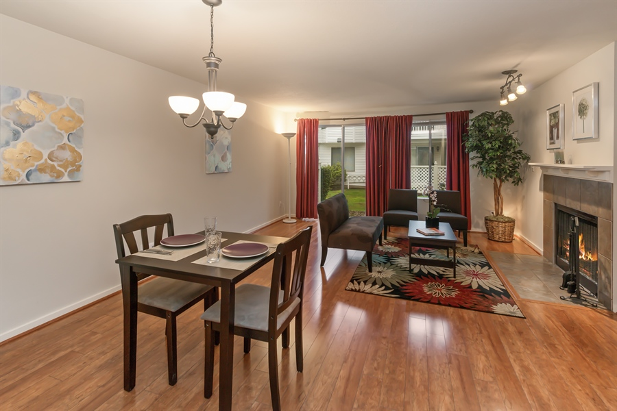 Real Estate Photography - 25812 115th Ave SE #B104, Kent, WA, 98030 - Living Room / Dining Room