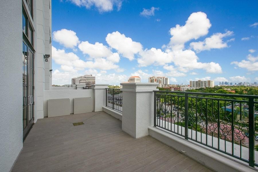 Real Estate Photography - 1200 Ponce Leon Blvd, Ste 704, Coral Gables, FL, 33134 - Suite Terrace