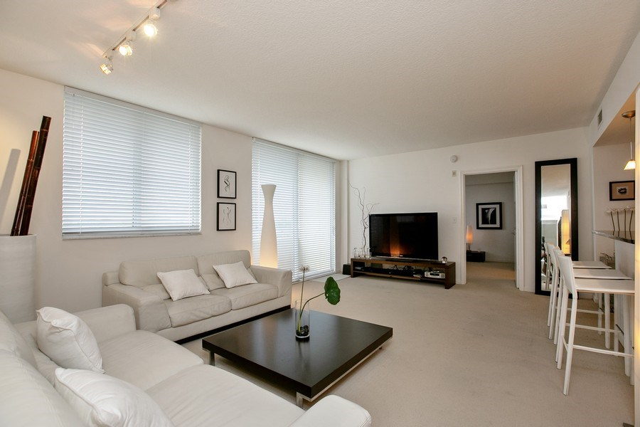 Real Estate Photography - 2775 NE 187th Street, 414, Aventura, FL, 33180 - Living and Dining Area