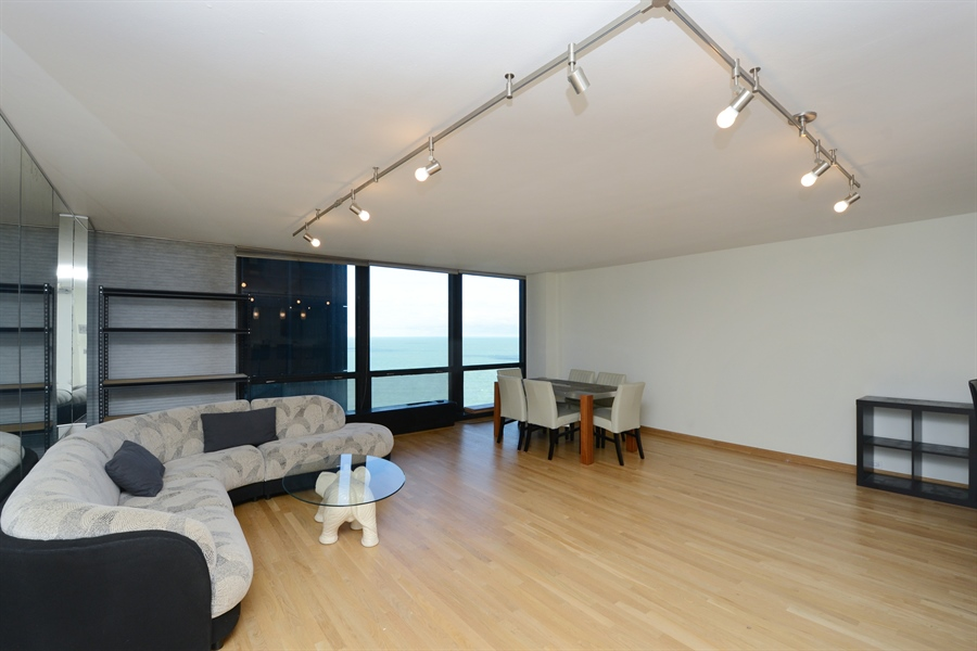 Real Estate Photography - 900 N. Lake SHore Drive, #1703, Chicago, IL, 60611 - Living Room