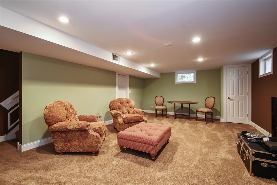 Real Estate Photography - 521 Durham Drive, Frankfort, IL, 60423 - Basement Recreation Room