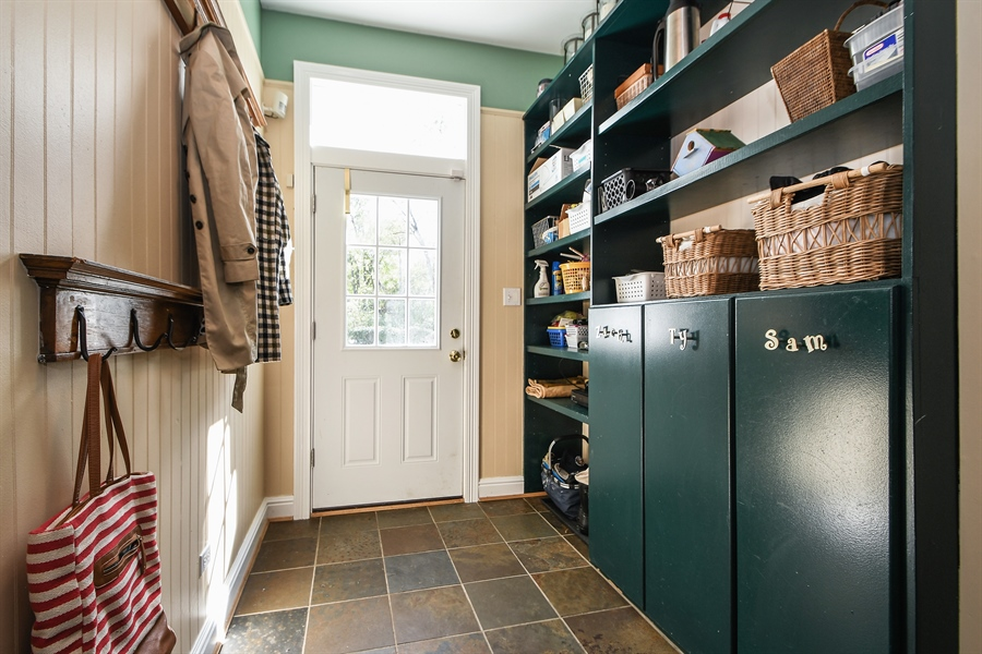 Real Estate Photography - 521 Durham Drive, Frankfort, IL, 60423 - Mudroom
