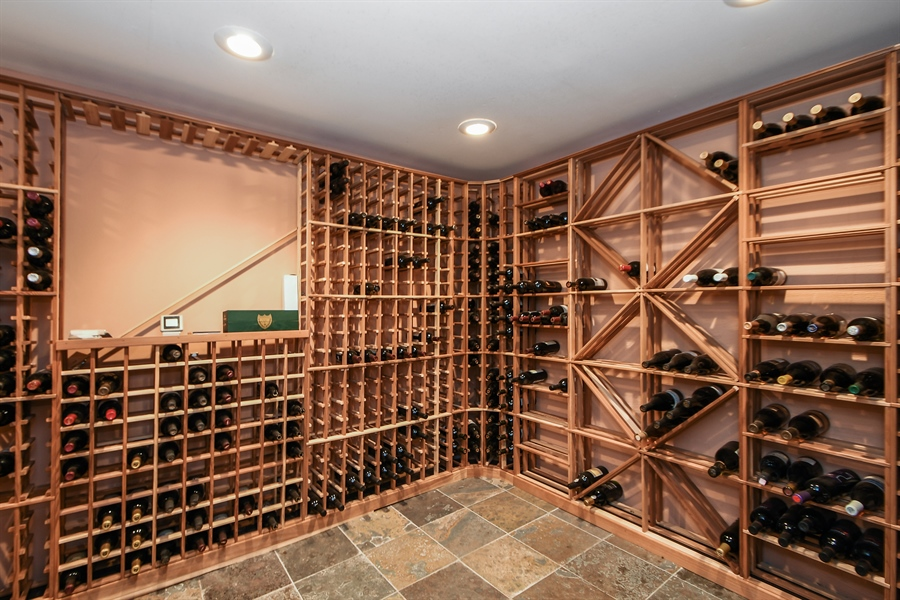 Real Estate Photography - 521 Durham Drive, Frankfort, IL, 60423 - Wine Cellar