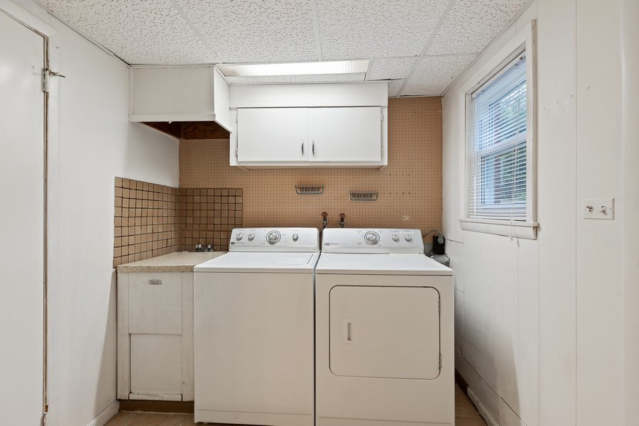 Real Estate Photography - 616 Harvard St, Wilmette, IL, 60091 - Laundry/Mud Room w/Access to Fenced Back Yard