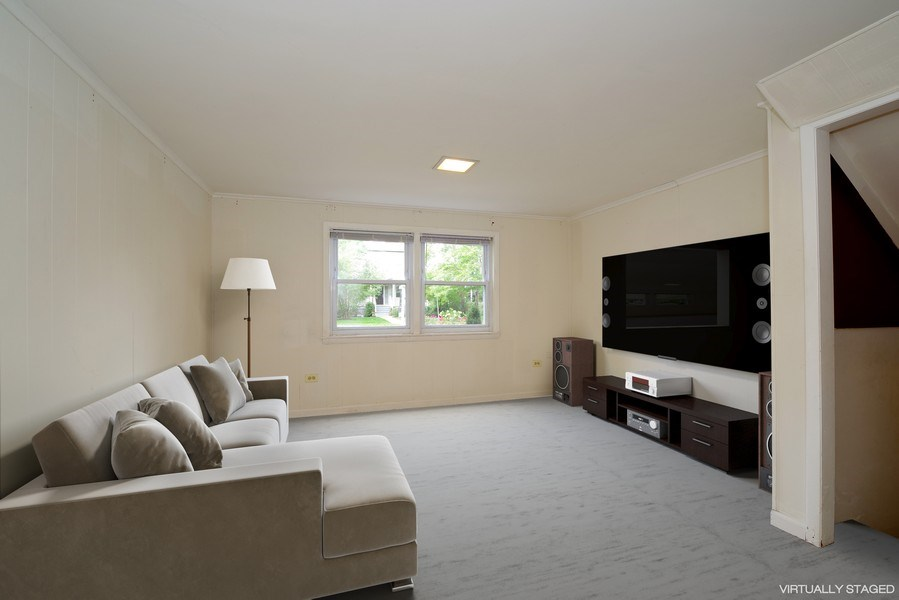 Real Estate Photography - 616 Harvard St, Wilmette, IL, 60091 - Family Room - Virtually Staged