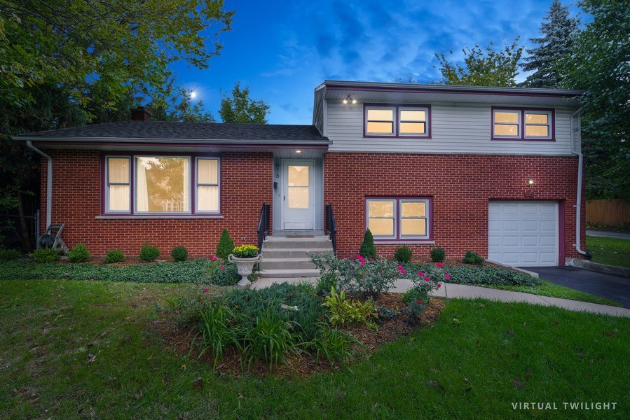 Real Estate Photography - 616 Harvard St, Wilmette, IL, 60091 - Front View - Twilight