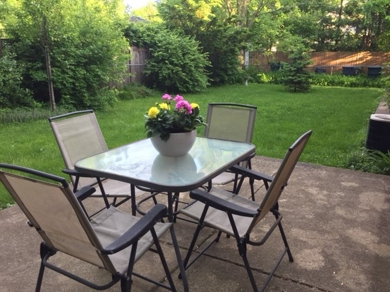 Real Estate Photography - 616 Harvard St, Wilmette, IL, 60091 - Patio in Fenced Back Yard