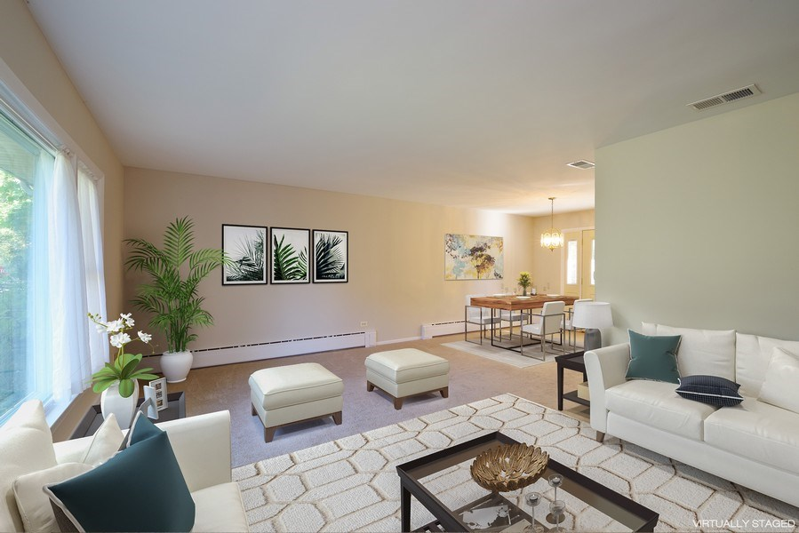 Real Estate Photography - 616 Harvard St, Wilmette, IL, 60091 - Living Room / Dining Room