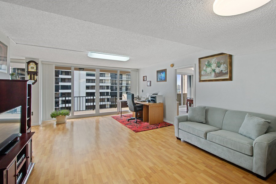 Real Estate Photography - 4200 N Ocean Dr 2, Unit 1203, Riviera Beach, FL, 33404 - Living Room